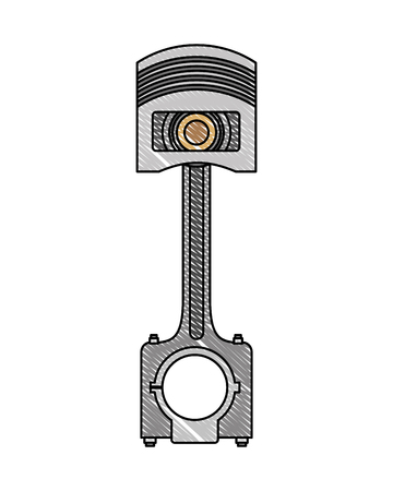 piston engine piece icon vector illustration design