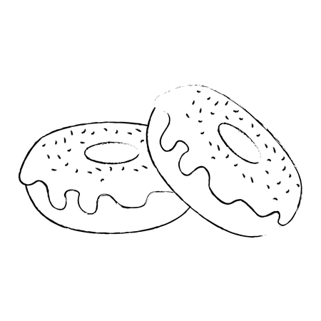 delicious and sweet donuts vector illustration design
