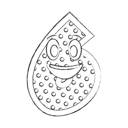 number six kawaii character vector illustration design