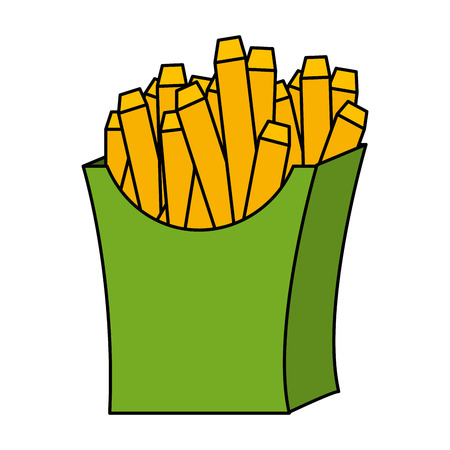 delicious french fries icon vector illustration design Иллюстрация