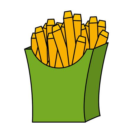 delicious french fries icon vector illustration design 版權商用圖片