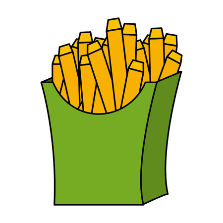 delicious french fries icon vector illustration design Stock Photo