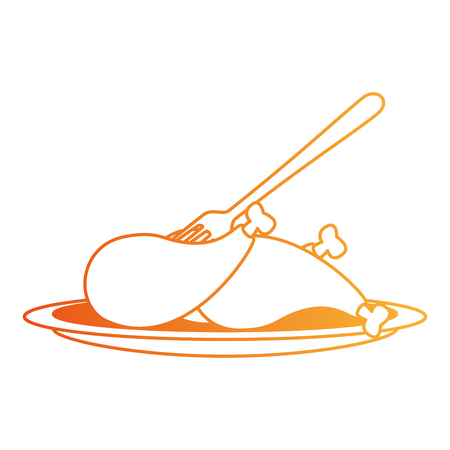 delicious chicken thighs icon vector illustration design