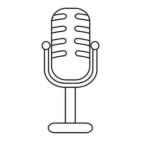 microphone concert musical icon vector illustration design Illustration