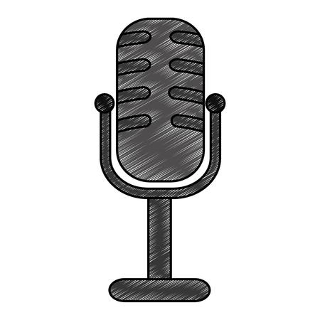 microphone concert musical icon vector illustration design Çizim