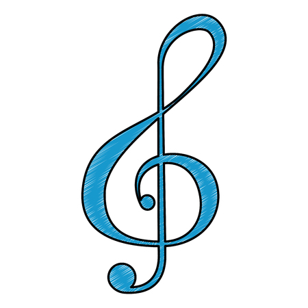 musical note isolated icon vector illustration design