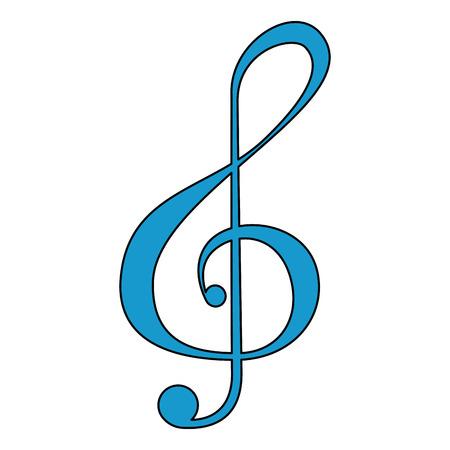 Musiknote isoliert Symbol Vektor-Illustration Design Vektorgrafik