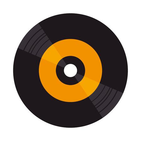 Vinylscheibe isoliert Symbol Vektor-Illustration Design