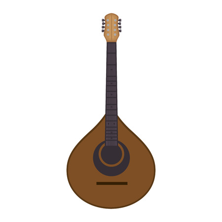 fado guitar musical instrument vector illustration design Ilustrace