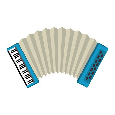 Acordeón instrumento tropical musical, diseño de ilustraciones vectoriales Ilustración de vector