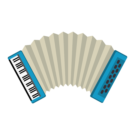 accordion tropical instrument musical vector illustration design