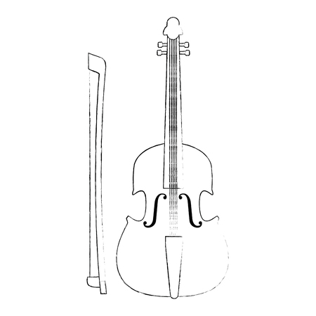 fiddle musical instrument icon vector illustration design Reklamní fotografie - 111928535