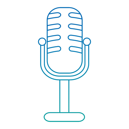 microphone concert musical icon vector illustration design Illusztráció