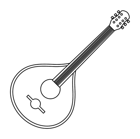 fado guitar musical instrument vector illustration design Illustration