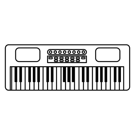 synthesizer musical instrument icon vector illustration design