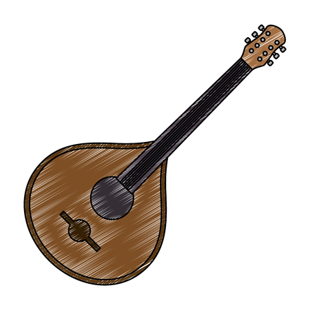 fado guitar musical instrument vector illustration design Çizim