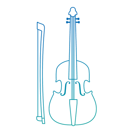 fiddle musical instrument icon vector illustration design