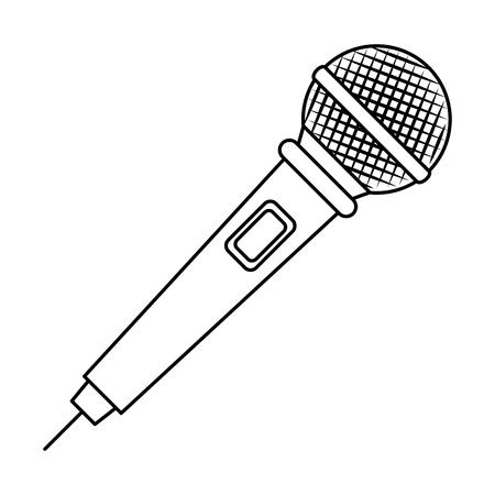 microphone concert musical icon vector illustration design Ilustrace