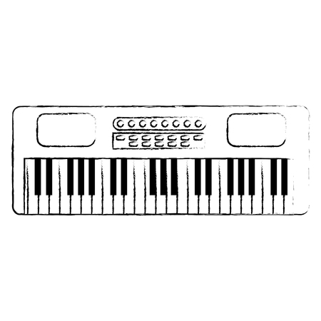 synthesizer musical instrument icon vector illustration design Vector Illustration