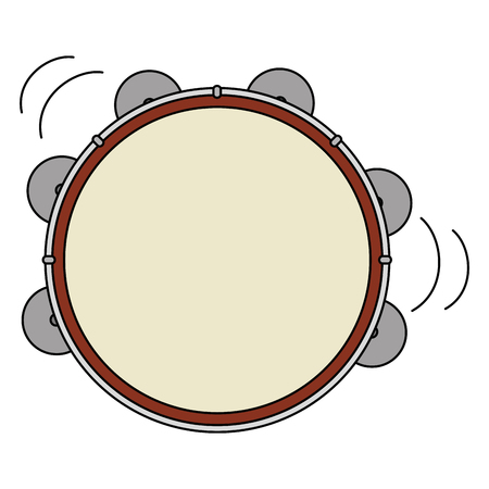 tambourine musical instrument icon vector illustration design