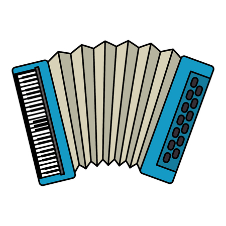 accordion tropical instrument musical vector illustration design