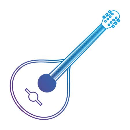 fado guitar musical instrument vector illustration design  イラスト・ベクター素材