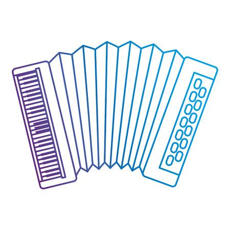 accordion tropical instrument musical vector illustration design Ilustración de vector