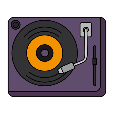 vinyl turntable device icon vector illustration design