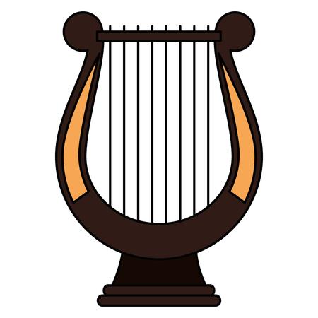 harpe instrument de musique icône vector illustration design Vecteurs