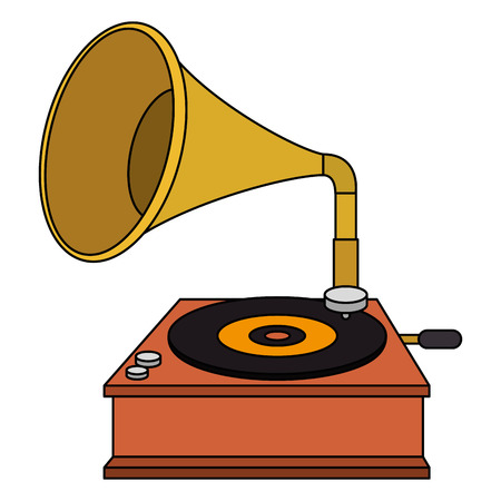 Grammophon alte Modeikone Vektor-Illustration Design