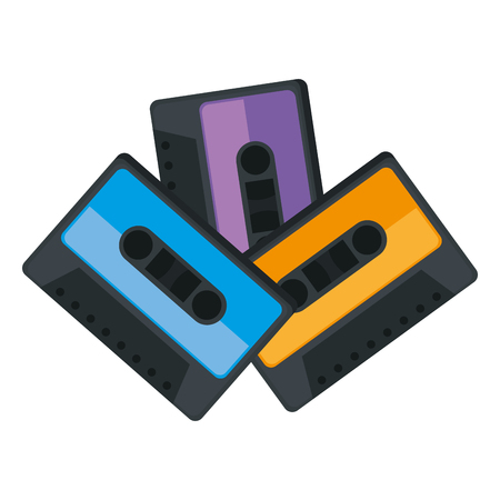 cassettes music isolated icons vector illustration design Stock Illustratie
