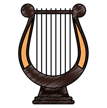 harp music instrument icon vector illustration design Banque d'images - 111928676