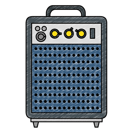 speaker bass electronic icon vector illustration design
