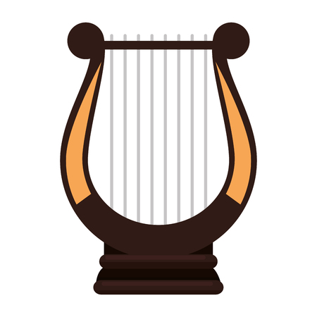 harp music instrument icon vector illustration design