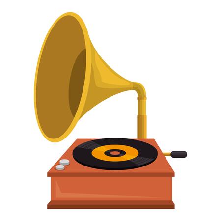 Grammophon alte Modeikone Vektor-Illustration Design Vektorgrafik