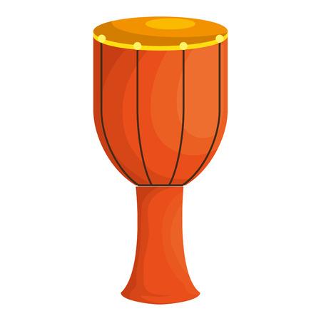 bongo drum tropical instrument vector illustration design