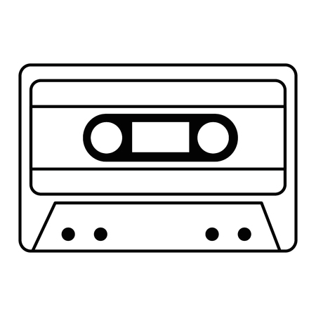 cassette music isolated icon vector illustration design