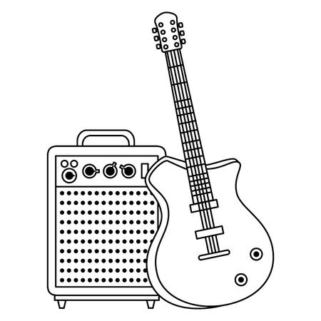 electric guitar with speaker vector illustration design Stock Vector - 111928713