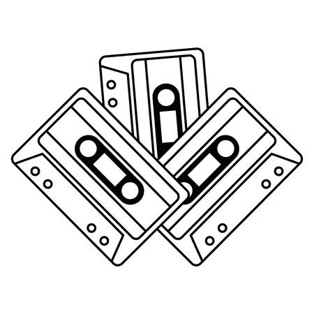 cassettes music isolated icons vector illustration design Ilustração