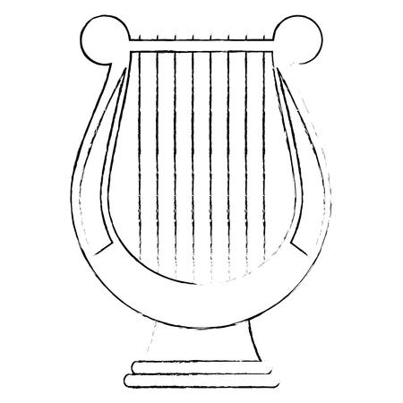 harp music instrument icon vector illustration design
