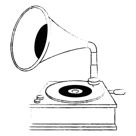 gramophone old fashion icon vector illustration design Stockfoto - 106564237