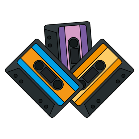 cassettes music isolated icons vector illustration design Vector Illustration