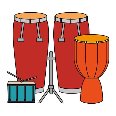 bongo drum with drums vector illustration design