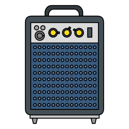 Altavoz bajo electrónico icono diseño ilustración vectorial