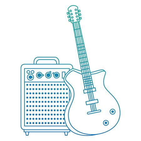 electric guitar with speaker vector illustration design Stock Vector - 111928773