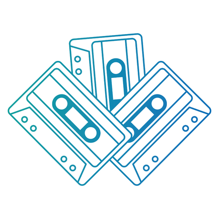 cassettes music isolated icons vector illustration design 向量圖像