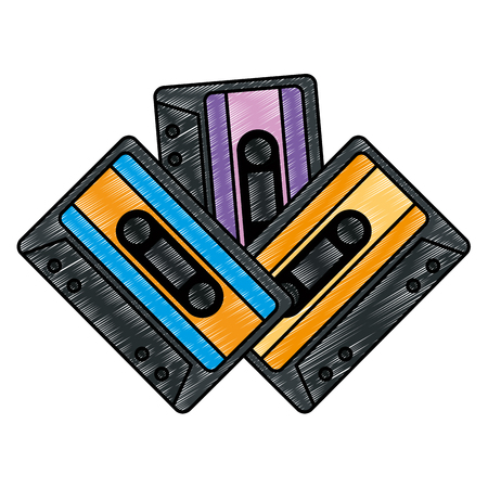 cassettes music isolated icons vector illustration design Stock Illustratie