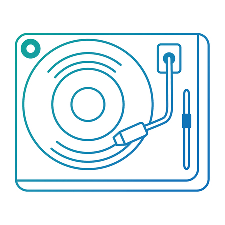 vinyl turntable device icon vector illustration design Stockfoto - 111928830