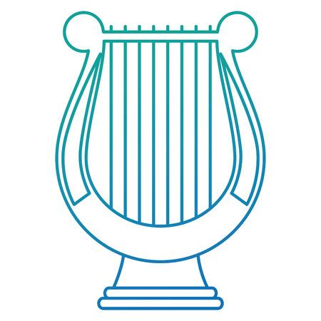harpe instrument de musique icône vector illustration design