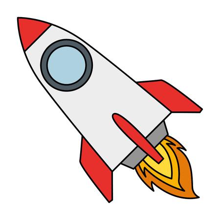 rocket start up icon vector illustration design